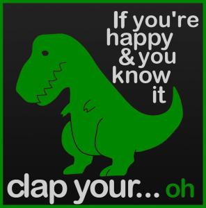 Who can be unhappy with a T Rex joke?