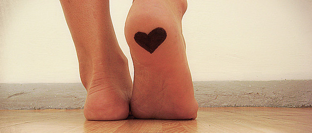 Feet with heart on it