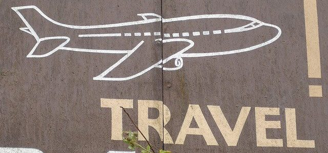 Airplane travel sign